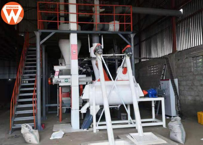 1.5 - 2.5 T/H Animal Farm Poultry Feed Plant Machinery 50kw High Efficiency