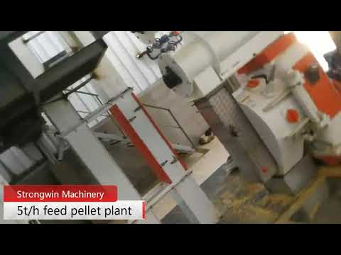 Complete Set Pellet Production Plant , Animal Poultry Feed Production Machines