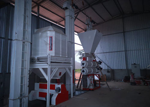 Strongwin Manufacture 5T/H Feed Pellet Plant installation site in Ecuador