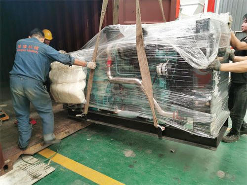 Animal feed pellet equipment packing and shipping to Madagascar