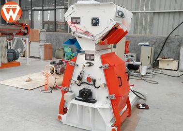 Electric Animal Feed Grinder , Turbine Worm Reducer Animal Grinding Machine