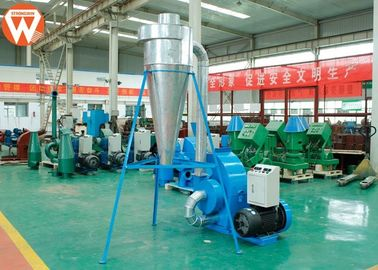 Corn Animal Feed Crusher Stainless Steel Hammer Mill Grinding With Cyclone