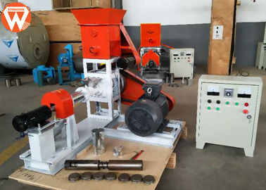 Dry Type Floating Fish Feed Extruder , High Efficiency 15KW Fish Pellet Extruder