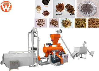 Modulator Steam Fish Feed Extruder Machine , Control Shrimp Floating Fish Feed Machine