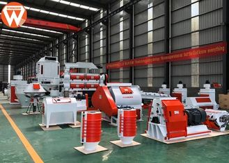 130kw Pellet Production Plant Automatic Type With Water Drop Hammer Crusher Machine
