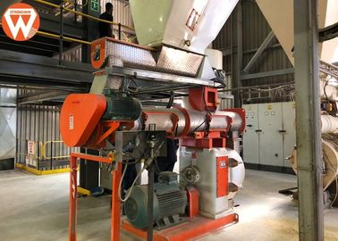 Total 220kw Feed Pellet Production Line With SKF Bearing Capacity 10T/H