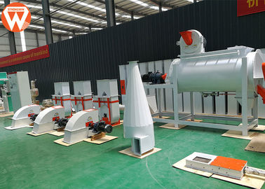 China Mash Small Cattle Feed Plant , 0.9-12mm Feed Processing Plant With Screener Machine supplier