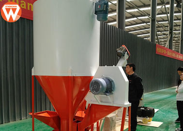 China Commercial Mixer Grinder Machine , Capacity 1 T/H Mixer Volume 2m³ Poultry Feed Mixer supplier