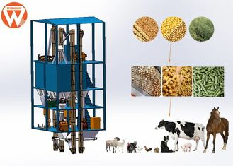 Low Noise Livestock Feed Pellet Production Plant For Animal Husbandry Industry
