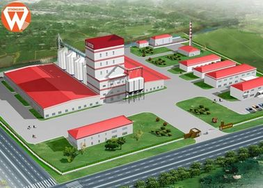 China 20T/H Livestock Animal Feed Pelleting Process With Steel Structure Design supplier