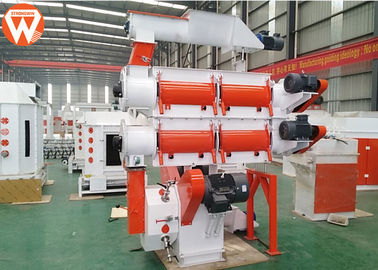 Commercial 95KW Poultry Pellet Feed Plant 380V / 50Hz With Crumbler Machine