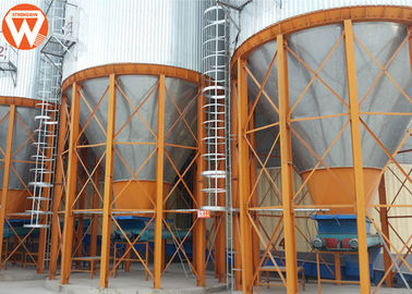 Chicken Farm Auxiliary Equipment Feed Hopper Silo For Poultry House Feed Line