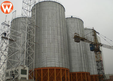Hopper Bottom Galvanized Steel Silo For Animal Feed Mill Industry Long Service Life