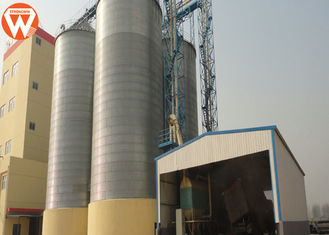 Animal Feed Auxiliary Equipment Wheat / Maize / Grain Silo 500-2500 Ton Capacity