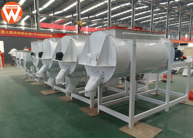 Horizontal Animal Livestock Poultry Feed Mixer Round 1 Ton / P High Efficiency