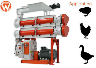 380V 3 Phase 90Kw Feed Pellet Machine 3 - 8T/H 1.5 - 12mm Pellet Size