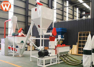 Feed Hammer Mill Animal Feed Processing Equipment 22KW Customized Voltage