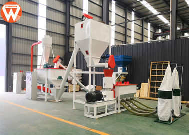 1T/H MCC Control Poultry Feed Processing Plant Commercial Feed Mill Equipment With Screw Conveyor