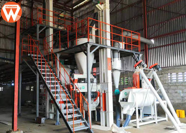 China Automatic Safe Poultry Pellet Feed Plant 1 - 2.5t/H Capacity 380V / 50Hz Voltage supplier