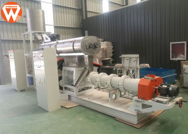 Wet Type Floating / Sinking Fish Feed Production Machine Fish Feed Extrusion Process
