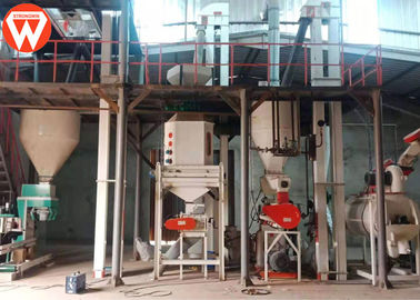 2-3T/H Animal Livestock Poultry Feed Mill Equipment In Mauritania