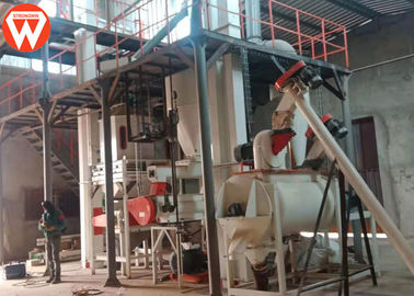 Complete Pellet Crusher Poultry Feed Machine Grading Sieve Equipment